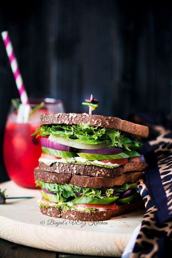 Mediterranean Veggie Sandwich Photography
