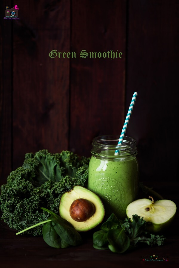 Green Smoothie Photography
