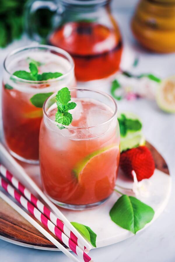 Guava Iced Tea Photography