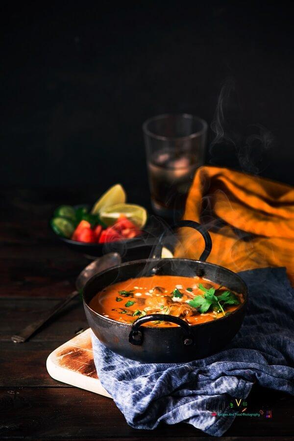 Mughlai Mushroom Malai Photography