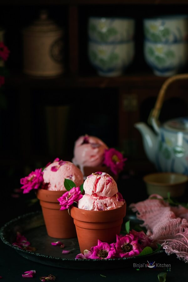 Rose Ice Cream Photography
