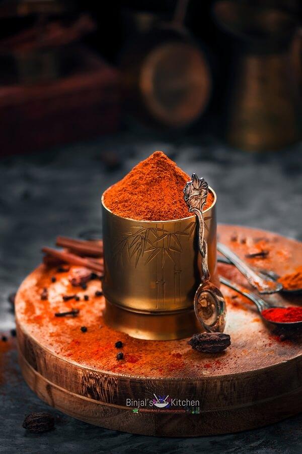 Homemade Tandoori Masala Photography