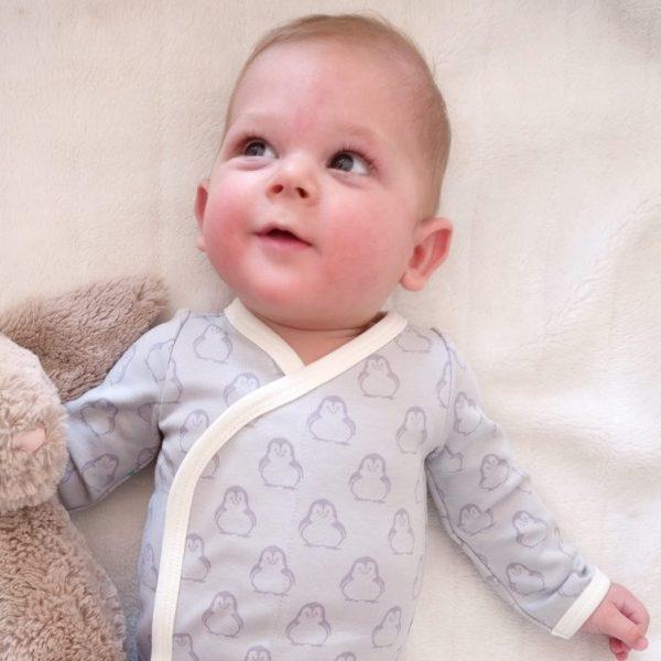 BiNKi kimono bodysuit penguin - baby clothes