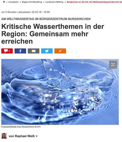 22.3. Innsalzach24.de – Kritische Wasserthemen in der Region: Gemeinsam mehr erreichen