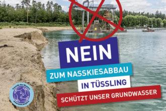 Mit Unterschriften gegen Nasskiesabbau