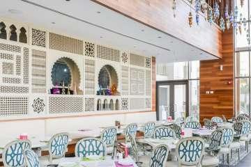 Modern Arabic interior at Tamara Lebanese Bistro Cairo Festival City Mall Cairo Egypte ©BintiHome