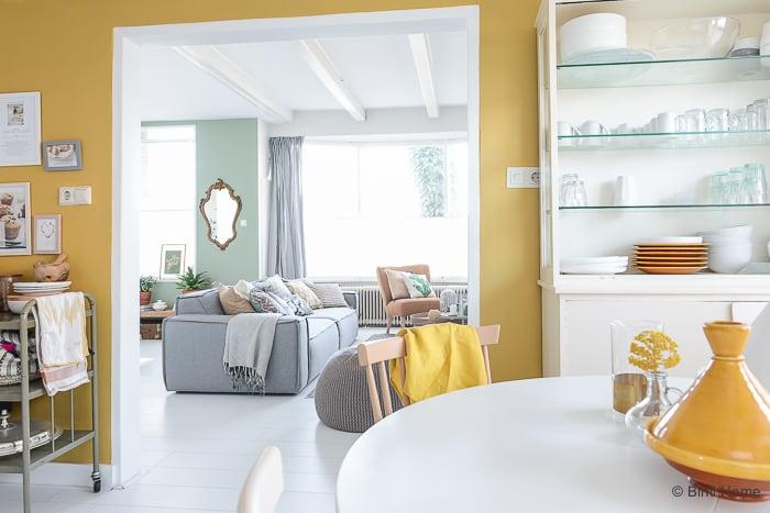 Keuken inspiratie Trendkleur 2016 okergeel okergoud toepassen in het interieur ©BintiHome-4