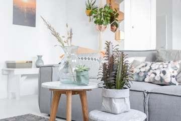 Give away Woonkamer styling zithoek paperbags marmer tafel ©BintiHomeBlog