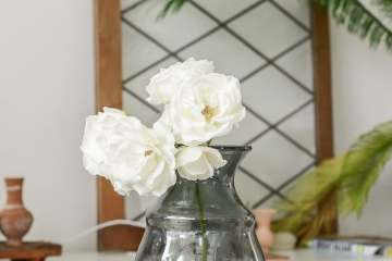 White roses from my garden home ©BintiHome