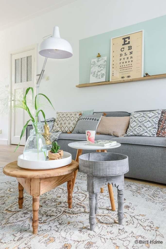 Interieurontwerp woonkamer jaren 30 huis inrichten in haarlem - Kleine woonkamer decoratie ...