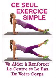 Exercice pour renforcer le centre et le bas de votre corps