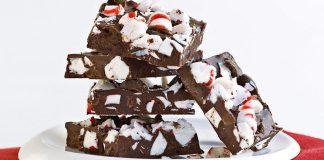 Écorce de chocolat à la menthe poivrée et au mokka