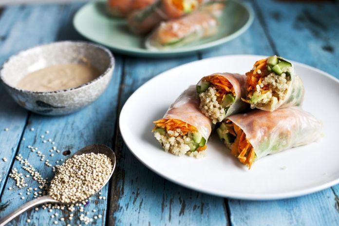 Rouleaux de printemps au quinoa
