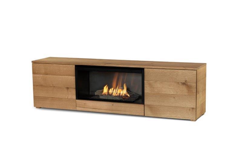 meuble tv cheminee planika pure flame