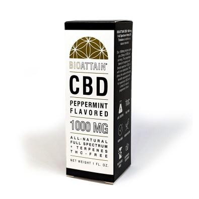 CBD Oil 1000mg Full Spectrum No THC Peppermint Flavor