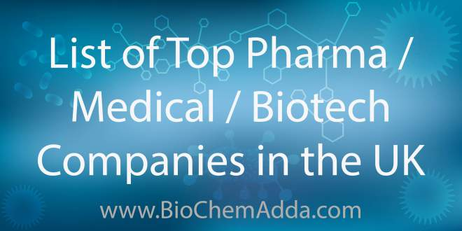Learn about Top Pharma / Medical / Biotech Companies in the United Kingdom: Search the UK Biotech Database and find potential partners...
