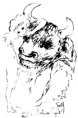 Le Minotaure et l'Innocence par Rolando Toro Araneda