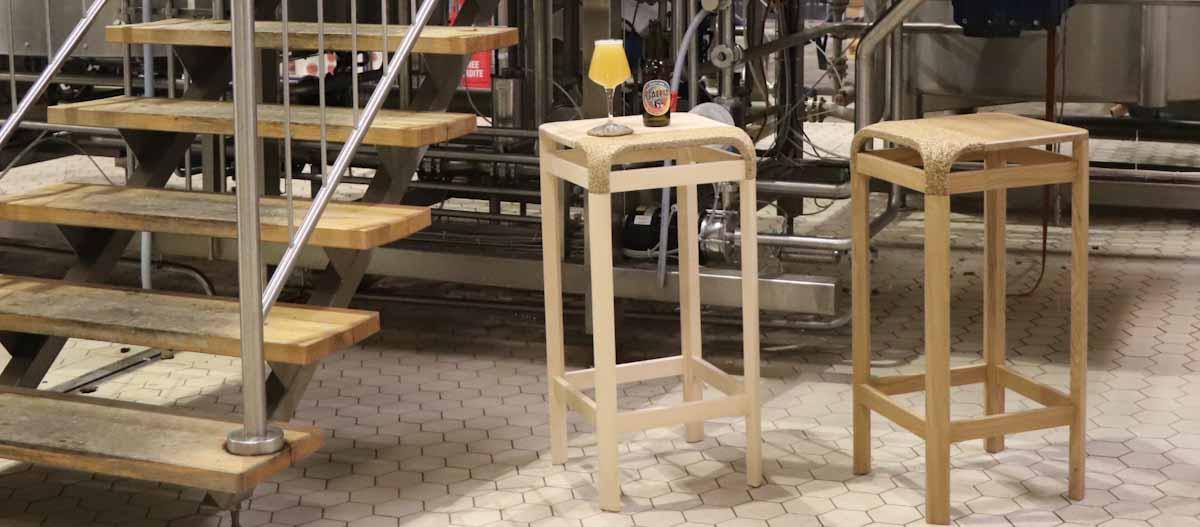 Economía circular en una fábrica de muebles bien 'cervecera'