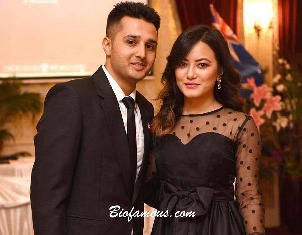 Prakriti Shrestha with her husband