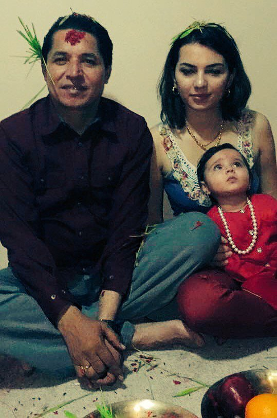 Aliza Gautam and family