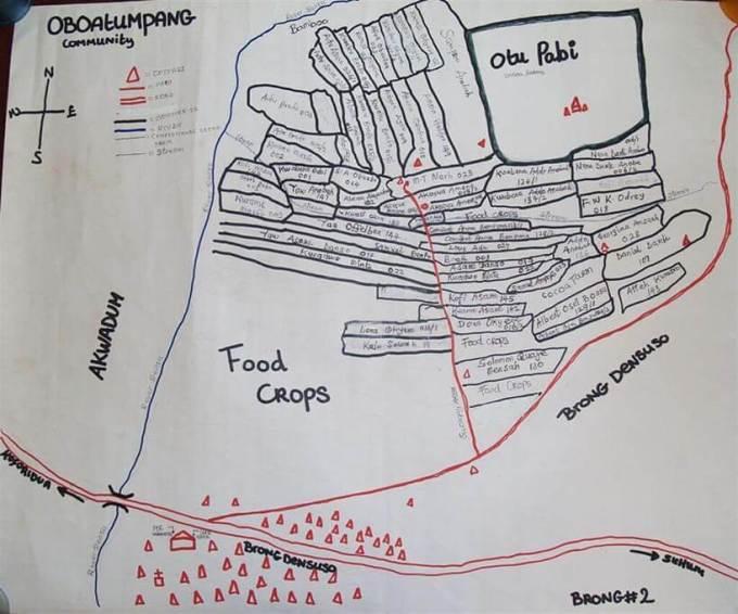 Map of Obuatumpang Fairtrade