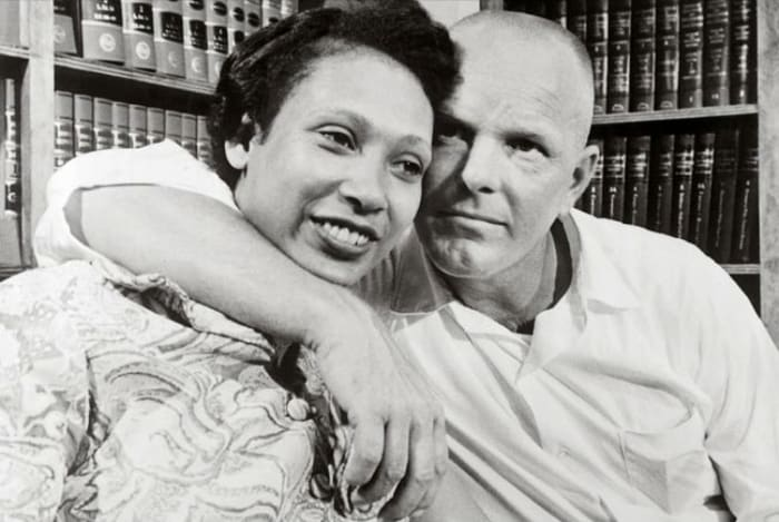 Mildred Jeter and Richard Loving Photo ban on interracial marriages