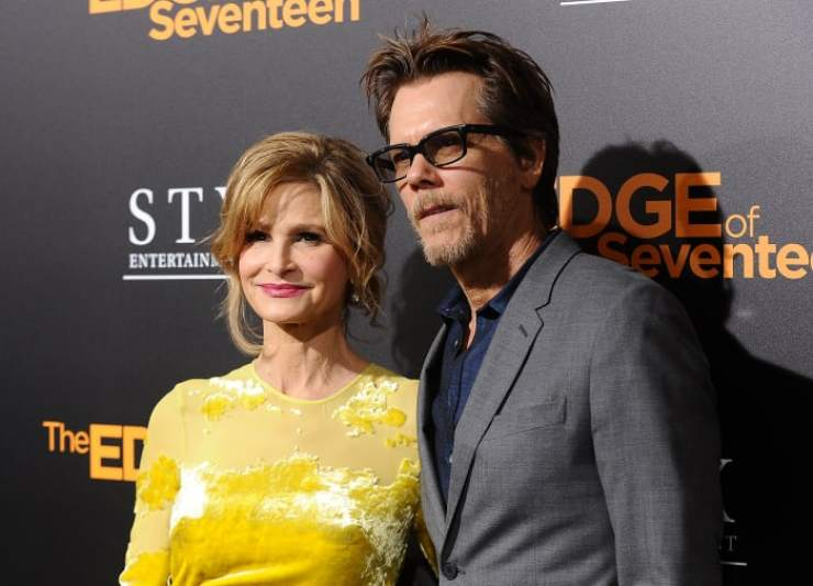 """Kyra Sedgwick and actor Kevin Bacon attend a screening of """"The Edge of Seventeen"""" at Regal LA Live Stadium 14 on November 9, 2016 in Los Angeles, California"""