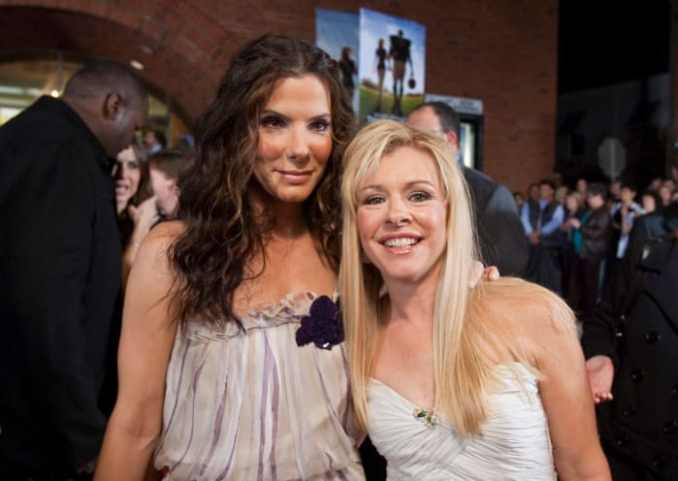 """Sandra Bullock with Leigh Anne Tuohy at """"The Blind Side"""" benefit premiere at the Prytania Theatre on November 19, 2009, in New Orleans, Louisiana"""