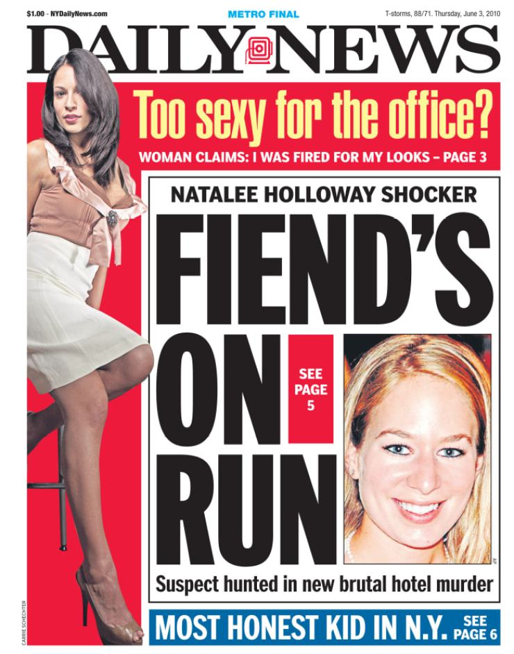 Daily News front page June 3, 2010