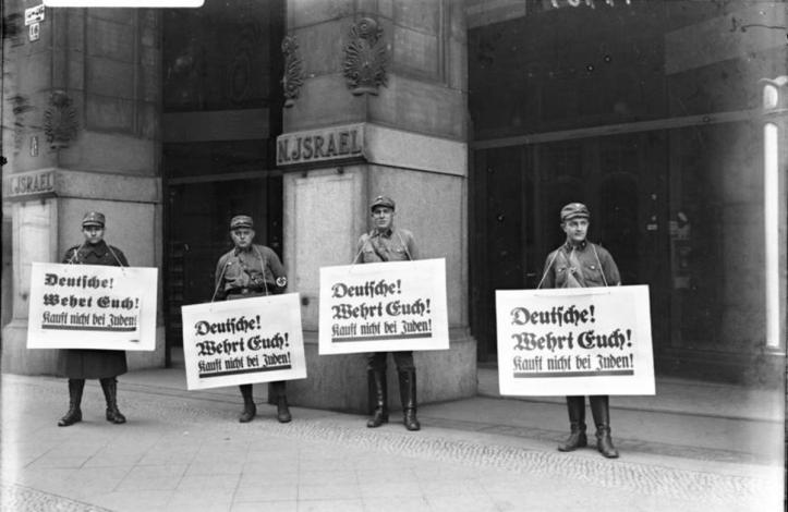 Berlin Nazi Boycott of Jews 1933 Photo