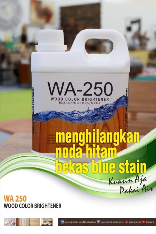 menyamarkan noda blue stain dengan wa-250