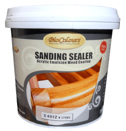 biocolours sanding sealer untuk finishing warna natural transparan