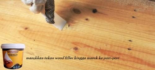 cara mendempul kayu