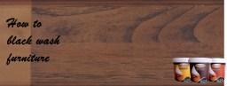cara membuat tampilan kayu tua black wash finish