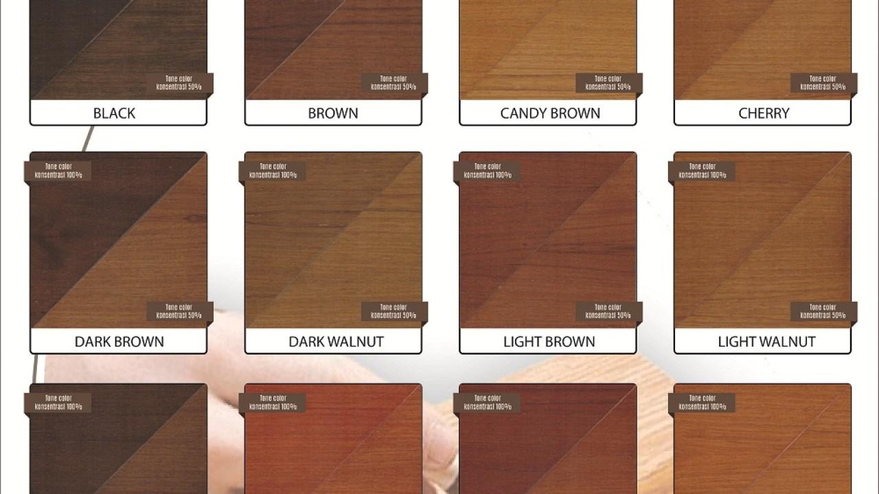 Katalog Warna Biovarnish Wood Stain – Bioindustries