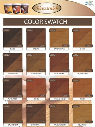 katalog warna biovarnsih wood stain
