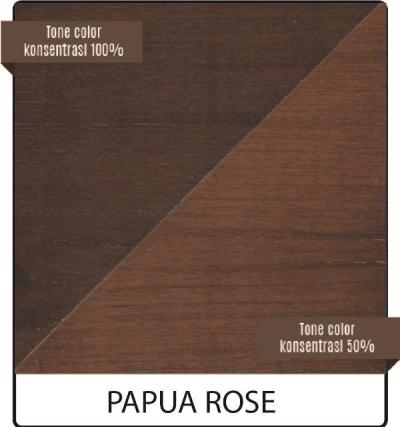 pernis kayu biovarnish warna papua rose