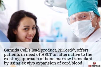 Gamida Cell - NiCord for HSCT