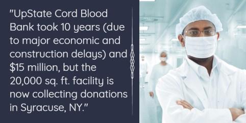 UpState Cord Blood Bank, Syracuse, NY