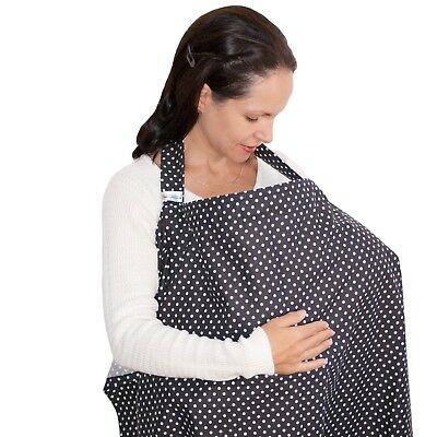 Couverture dAllaitement SWEETBB /Écharpe de Soins Infirmiers aux B/éb/é pour Mamans Blanc et Noir