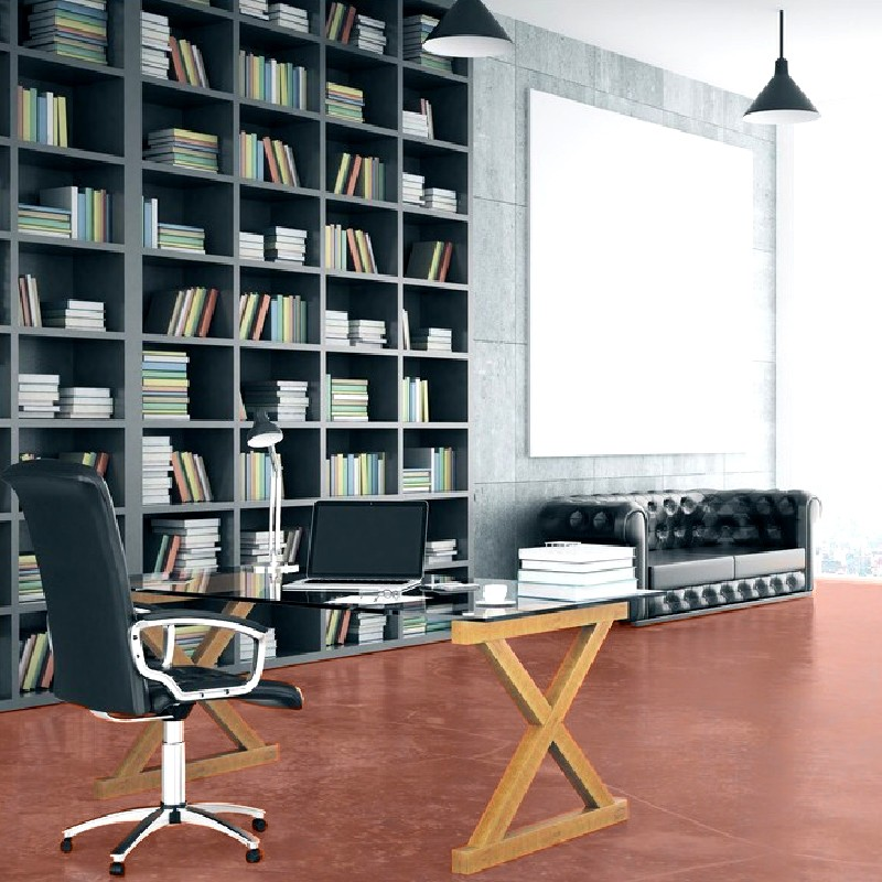 kit beton cire rouge senoi