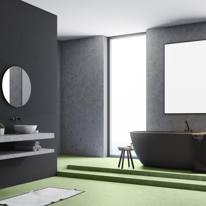 beton cire dans une salle de bain