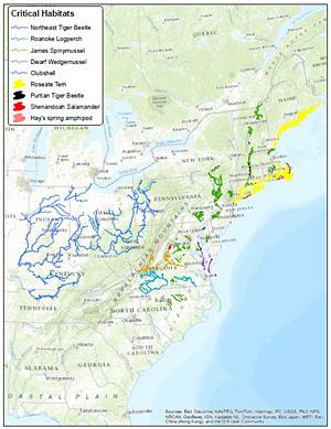 Critical habitat map