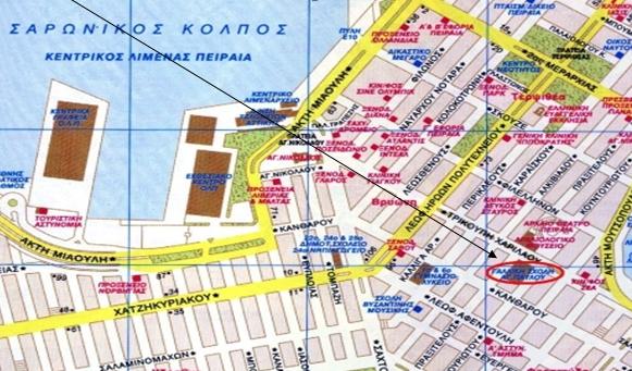 Χάρτης της περιοχή με επισήμανση της θέσης όπου θα γίνει η εκδήλωση.