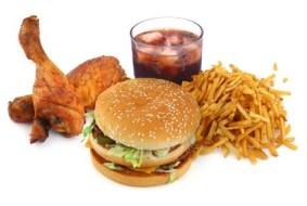 Comida basura... Demasiadas calorías para nada