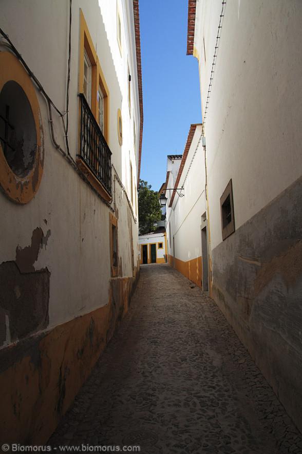 I vicoli e le stradine di Evora sono molto caratteristiche. La scarsa presenza di turisti le rende particolarmente suggestive.