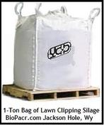 Feed Bag of Lawn Clipping Silage