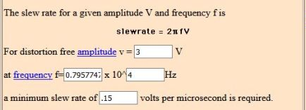 slew rate calculation