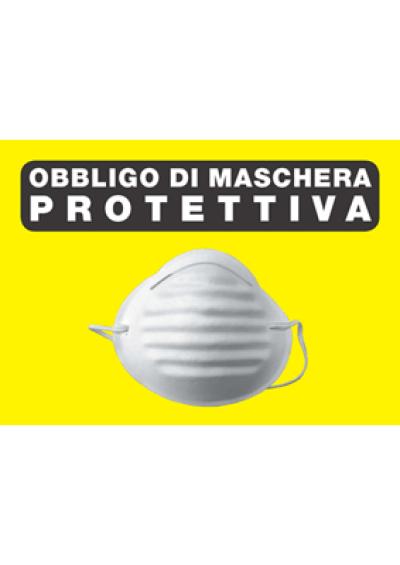 Cartellone obbligo di maschera protettiva
