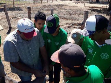 Equipe do IBS que atua no Projeto Bahia Produtiva, em parceria com a Escola Família Agrícola de Correntina, desenvolveu um trabalho de sanidade manejo e castração de ovinos e caprinos na Associação de Capão Preto e Caldeirão.